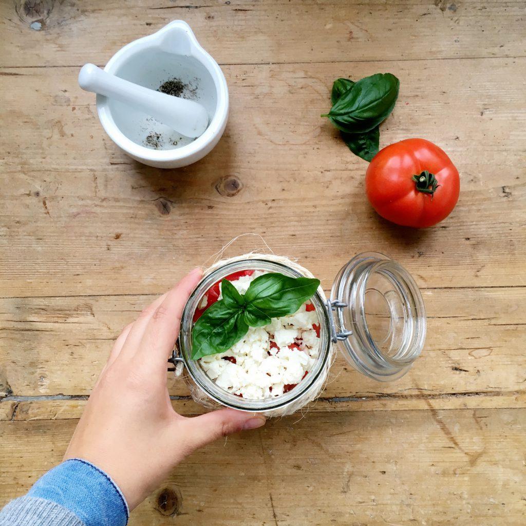 Couscous Salat im Glas