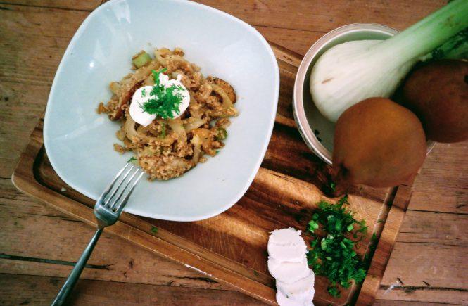 Couscous mit Birnen und Fenchel