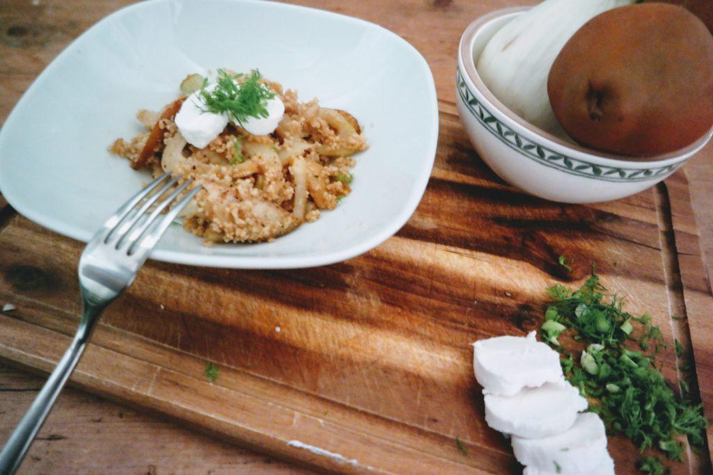 Couscous mit Birne und Fenchel