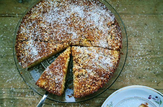 gestürzter Ananas Kuchen